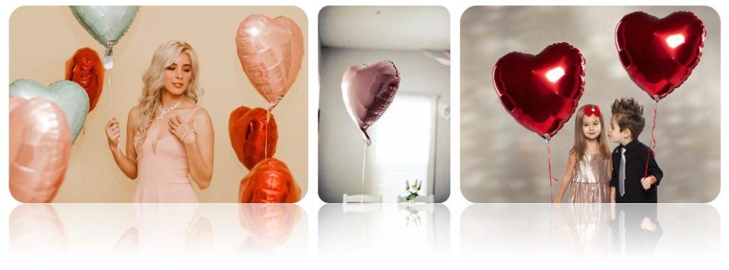 печать на шарах  в форме сердца