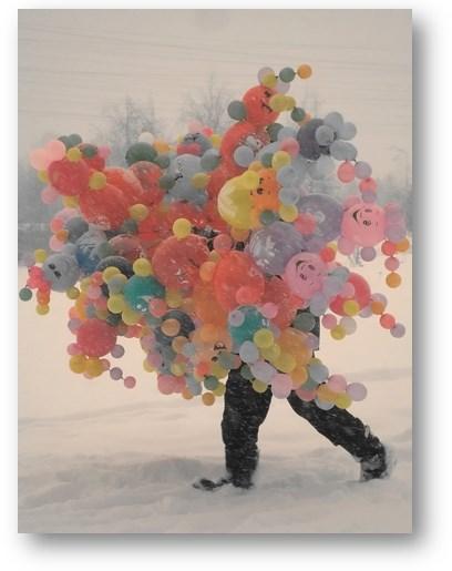 воздушные шары зимой