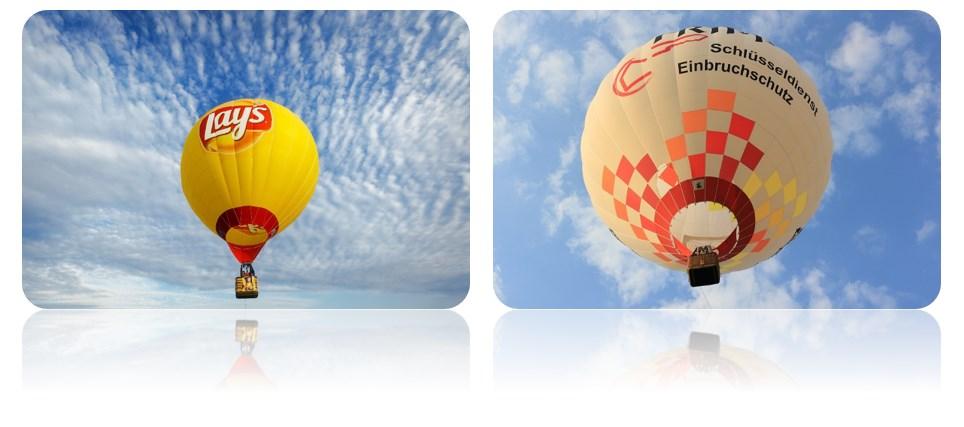 реклама на больших воздушных шарах