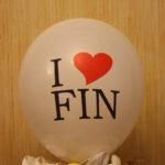 I love FIN шарик