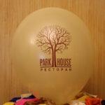 нанесение логотипа ресторана на шар