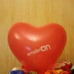 шар в форме сердца с логотипом