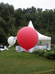 большие шары с логотипом