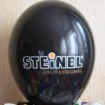 логотип на черном шаре Металлик