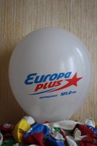 нанесение логотипа Europa plus 101,0 FM на шар