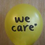 желтый шарик we care