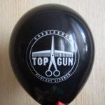 реклама barbershop TOP GUN на воздушном шаре