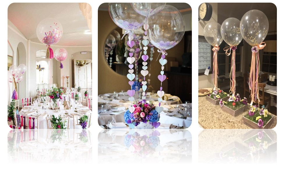 композиции из воздушных шаров на праздничный стол