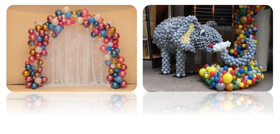 каркасные сооружения из шаров