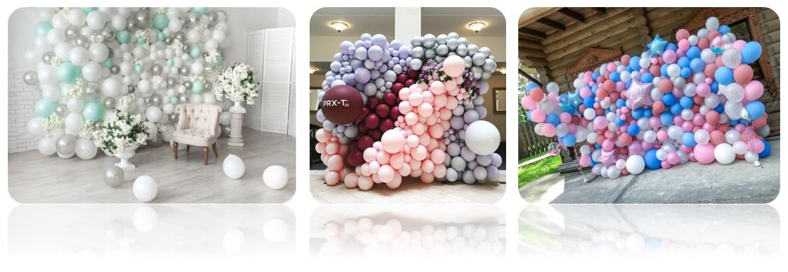 стены из воздушных шаров для фотозоны
