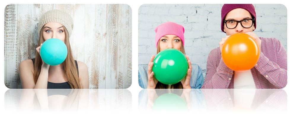 надувайте воздушные шары для профилактики простуды